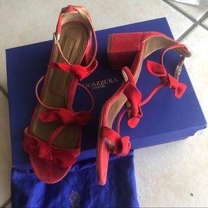 Authentic aquazzura bow sandals